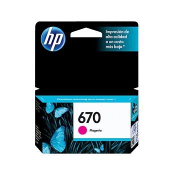 TINTA HP 670 MAGENTA CZ115AL 3,5ML