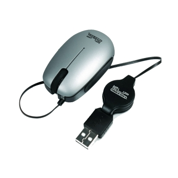 MOUSE USB KLIP KMO-130S MINI RETRACTIL GRIS