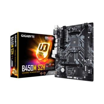 PLACA MADRE GIGABYTE AM4 B450M-S2H V/S/R/HDMI/DVI/