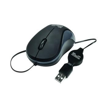 MOUSE KLIP USB KMO-113 1000DPI/MINI RETRACTIL NEG/