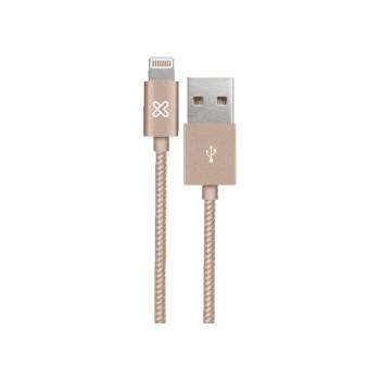 CABLE KLIP USB LIGHTNING BRAID KAC-001GD 0.5M P/ I