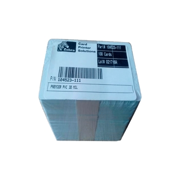 TARJETAS PVC ZEBRA ID PACK 30MIL POR UNIDAD 104523