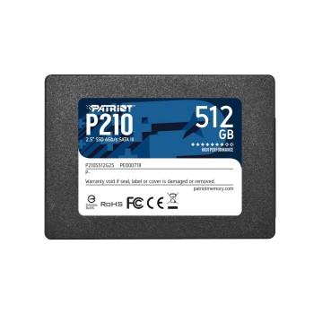 SSD SATA3 512GB PATRIOT P210 P210S512G25 520/430