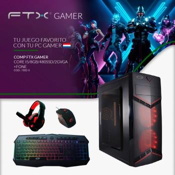 COMPUTADORA FTX GAMER I5/8GB/480SSD/2GVGA+FONE+MOU