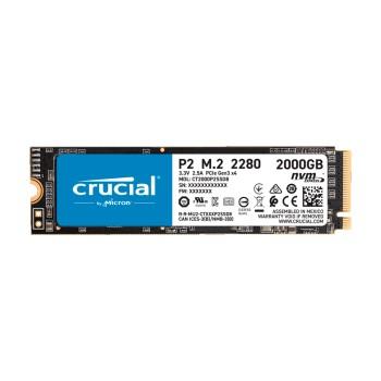 SSD M.2 PCIE 2TB CRUCIAL P2 2280 NVME CT2000P2SSD8