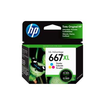 TINTA HP 667XL COLOR 3YM80AL DJ 2775 8ML